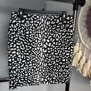 WHBM Animal Print Skirt Size 8